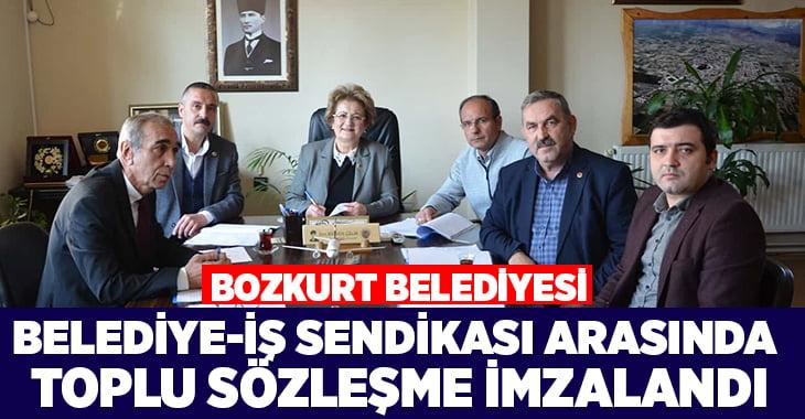Bozkurt Belediyesi'nde Belediye-İş Sendikası toplu sözleşmesi imzalandı